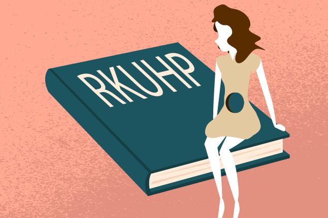 Ilustrasi pengaturan aborsi dalam RUU KUHP. Ilustrator: HGW