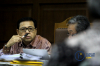Politikus PDI Perjuangan,Ganjar Pranowo saat bersaksi dalam sidang lanjutan kasus dugaan korupsi pengadaan KTP elektronik dengan terdakwa Setya Novanto di Pengadilan TipikorJakarta, Kamis (8/2).