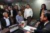 Ketua KPK Agus Rahardjo didampingi Ketua DPR Bambang Soesatyo, Wakil Ketua DPR Fadli Zon, Wakil Ketua DPR Taufik Kurniawan, Wakil Ketua DPR Agus Hermanto dan sejumlah anggota DPR, meninjau Pusat Layanan Terpadu Klinik Laporan Harta Kekayaan Penyelenggara Negara berbasis elektronik (e-LHKPN) usai diresmikan, di Gedung Nusantara III, Kompleks Parlemen Senayan, Jakarta, Senin (12/2).