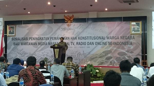 MK: Insan Pers Berperan untuk Tegaknya Hukum dan Demokrasi