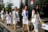 Sebanyak 38 finalis Putri Indonesia 2018 mendatangi KPK untuk mendapat pembekalan tentang pencegahan korupsi.