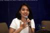 """Ardhanti Nurwidya selaku Anggota Bidang Ekonomi Digital dari Asosiasi E-Commerce Indonesia (idEA) dalam Diskusi Hukumonline.com """"E-Commerce Indonesia: Road Map dan Perkembangan Kebijakan Perlakukan Perpajakan"""", Kamis (28/03). Foto: Redaksi"""
