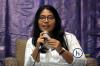 """Afia Cita Fitrianaselaku Senior Associate dariANC Attorneys at Law dalam Diskusi Hukumonline.com """"E-Commerce Indonesia: Road Map dan Perkembangan Kebijakan Perlakukan Perpajakan"""", Kamis (28/03). Foto: Redaksi"""