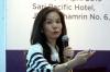 """Ibu Susli Lie selaku Co-Founder dari Dana Cita dalam Diskusi Hukumonline 2019 """"Perkembangan Hukum dan Praktik Teknologi Finansial Peer to Peer Lending di Indonesia"""" , Kamis (11/04). Foto: Redaksi"""