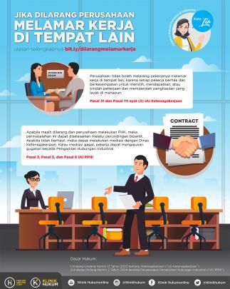 Jika Dilarang Perusahaan Melamar Kerja di Tempat Lain