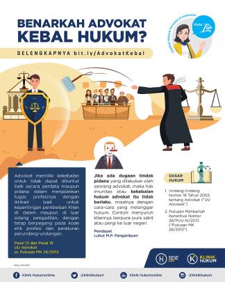 Benarkah Advokat Kebal Hukum?