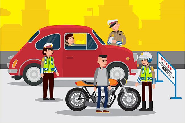 Hukumnya Melarikan Diri Ketika Ditilang Polisi
