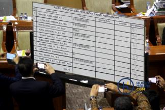 Suasana Voting Capim KPK Periode 2019-2023 di DPR