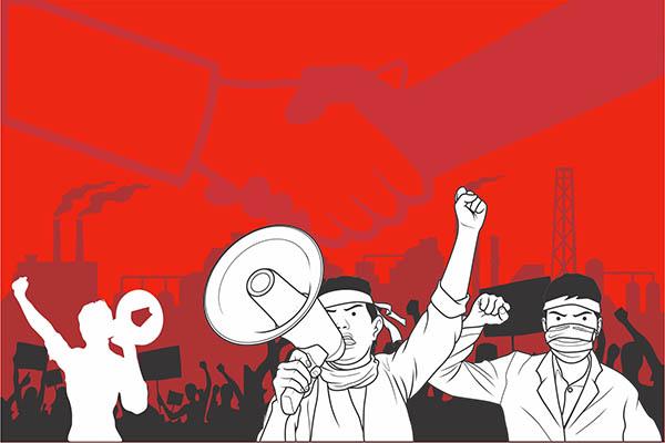 Jerat Pidana Pelaku Demo Anarkis