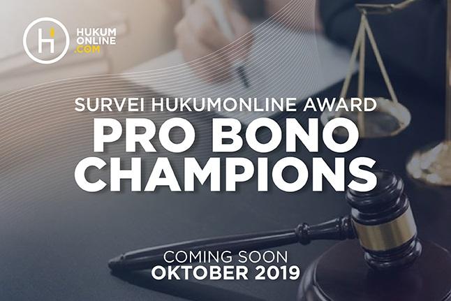 Survei Hukumonline Award Pro Bono Champions 2019