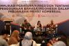 Sesi I mengenai Ruang Lingkup Kebijakan Penggunaan Bahasa Indonesia
