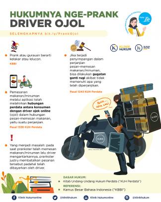 Hukumnya Nge-Prank Driver Ojol