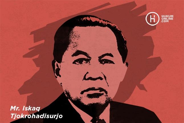 Ilustrasi Mr Iskaq Tjokrohadisurjo yang diambil dari cover buku biografinya yang ditulis R Nalenan. Ilustrator: HGW