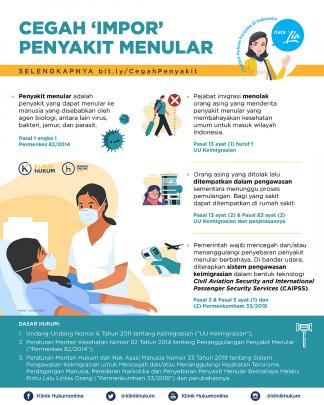 Cegah 'Impor' Penyakit Menular