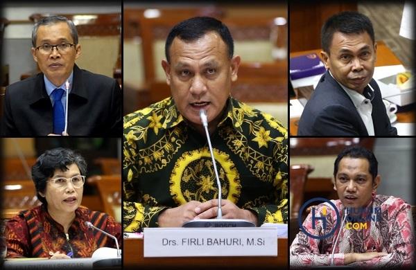 Kolase lima pimpinan KPK periode 2019-2023. Foto: RES