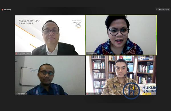 Narasumer dan Moderator dalam Webinar Hukumonline 2020: Implementasi UU Minerba Terbaru dan Implikasi Hukumnya bagi Pelaku Usaha