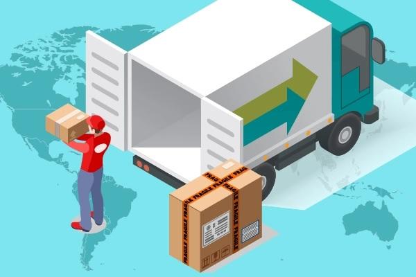 Ilustrasi kegiatan ekspor. BAS