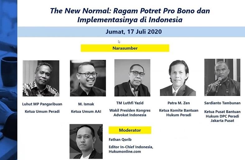 The New Normal: Ragam Potret Pro Bono dan Implementasinya di Indonesia