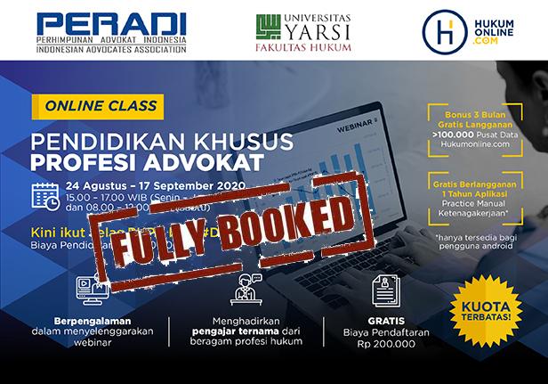 Online Class: Pendidikan Khusus Profesi Advokat (PKPA) Periode Agustus - September