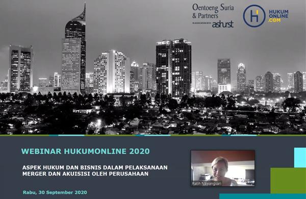 Pemaparan Materi oleh Ratih Nawangsari, Managing Partner - Oentoeng Suria & Partners in association with Ashurst