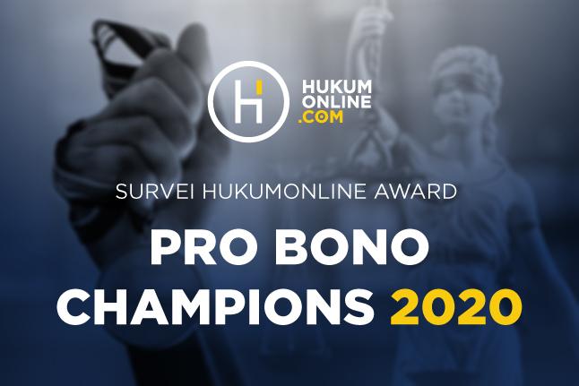 Yuk Ikuti Survei Hukumonline Award Pro Bono Champions 2020