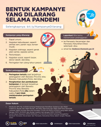Bentuk Kampanye yang Dilarang Selama Pandemi