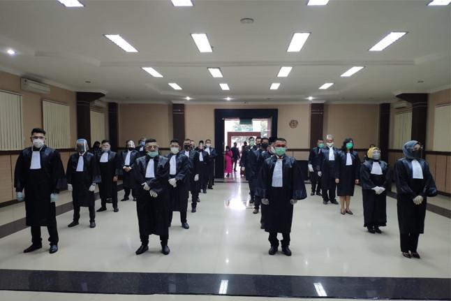 Pengambilan Sumpah Advokat di Pengadilan Tinggi Medan. Foto: istimewa.
