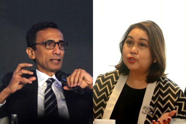 Pendiri kantor hukum Assegaf Hamzah & Partner (AHP) Ahmad Fikri Assegaf dan Partner Pendiri Soewito Suhardiman Eddymurthy Kardono (SSEK) Ira Andamara Eddymurthy.