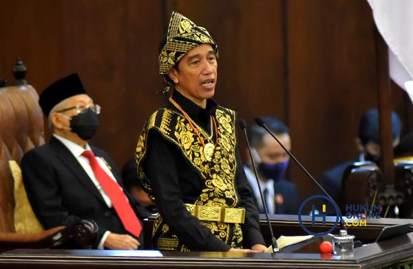 Presiden Joko Widodo dan Wakil Presiden Ma'ruf Amin saat menyampaikan kinerja lembaga negara dalam Sidang Tahunan MPR 2020, (14/8/2020) lalu. Foto: RES