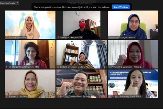 Pembicara dalam webinar bertema 'Perlindungan terhadap Anak, Tanggung Jawab Siapa?' pada Jumat (23/10). Foto: istimewa.
