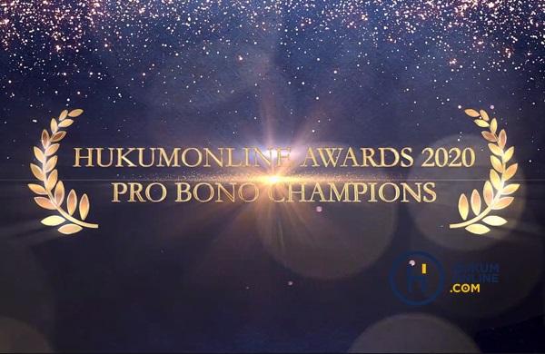 Hukumonline Award 2020 Pro Bono Champions. Foto: RES
