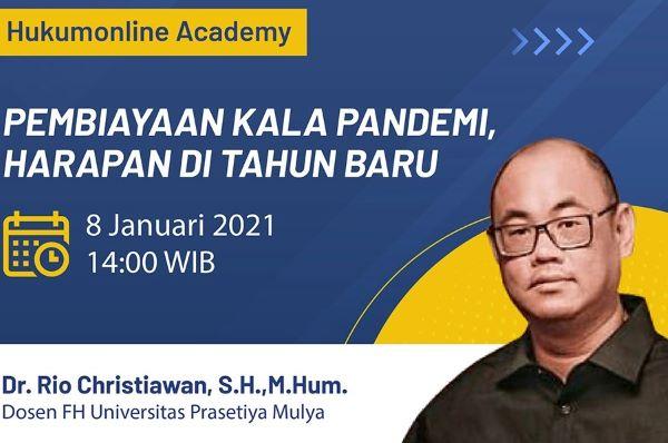 Dosen Fakultas Hukum Universitas Prasetia Mulya, Rio Christiawan, menjadi nara sumber dalam acara Hukumonline Academy, Jumat (8/1).