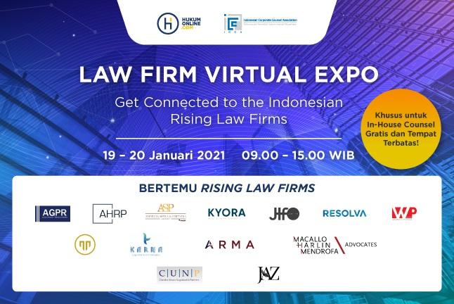 13 Rising Law Firms Siap Ramaikan Law Firm Virtual Expo 2021