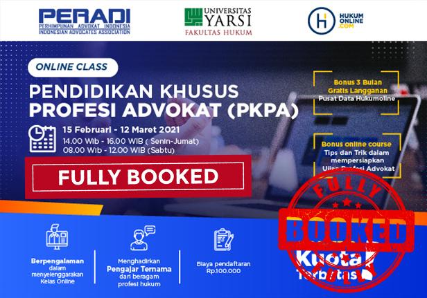 Online Class: Pendidikan Khusus Profesi Advokat (PKPA) Periode Februari-Maret 2021