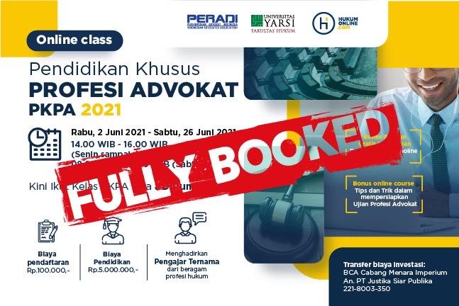 Online Class: Pendidikan Khusus Profesi Advokat (PKPA) Periode Juni 2021