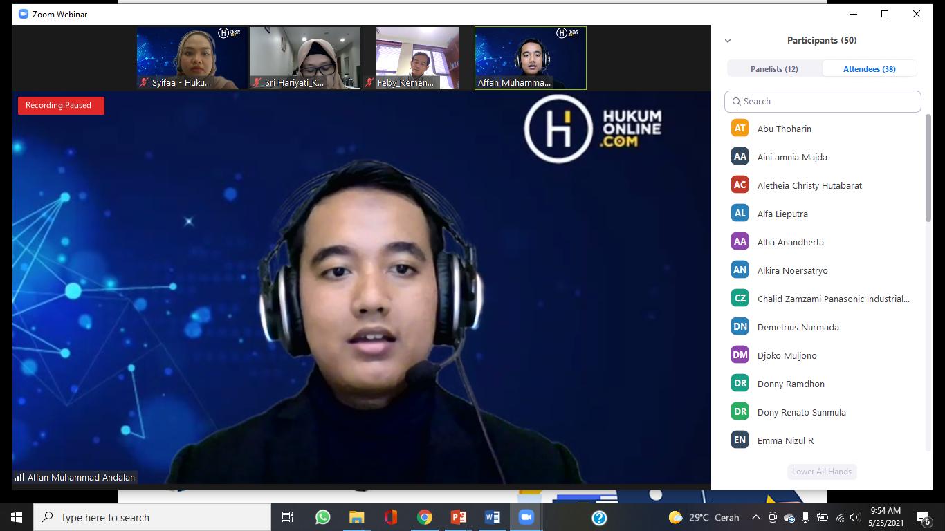 Pembukaan oleh Moderator (Affan Muhammad Andalan)