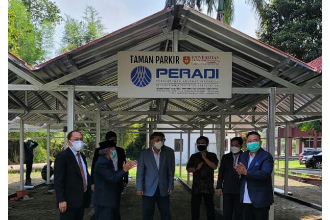 Peresmian Taman Parkir PERADI pada Rabu (7/9). Foto: istimewa.