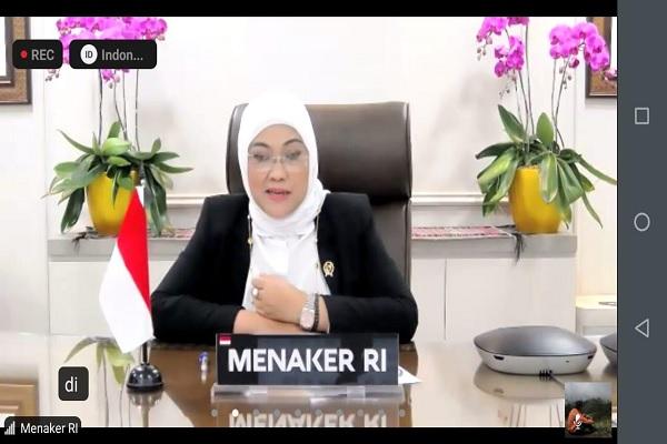 Menteri Tenaga Kerja Ida Fauziyah. Foto: Ady