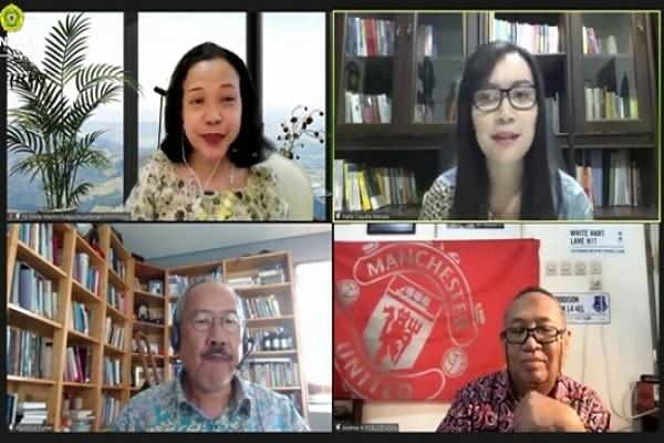 Sejumlah narasumber dalam Webinar yang diselenggarakan FH Universitas Katolik Parahyangan bekerja sama dengan Indonesia Restorative Justice (IRJM) bertema 'Kajian Kritis Terhadap Implementasi Restorative Justice di Indonesia', Sabtu (31/7/2021) kemarin.