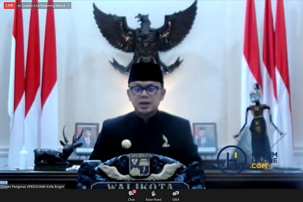 Ketua Dewan Pengurus APEKSI/Walikota Bogor, Bima Arya Sugiarto, dalam Webinar Hukumonline x APEKSI: Refocusing dan Realokasi Anggaran dalam Rangka Percepatan Penanganan Covid-19 dan Pemulihan Ekonomi Nasional, Kamis (19/8).