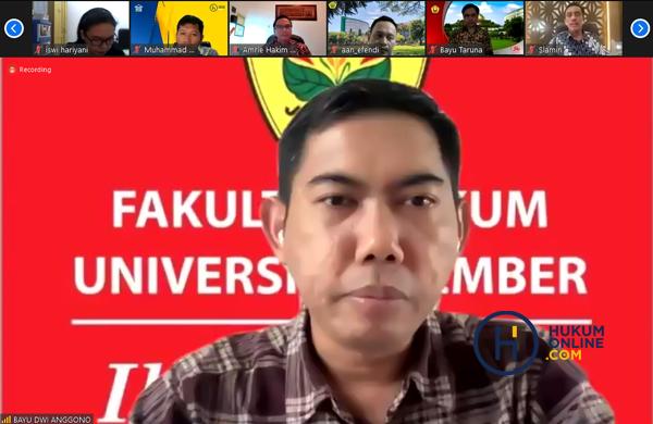 Dekan Fakultas Hukum Universitas Jember (FH UNEJ), Bayu Dwi Anggono. Foto: RES