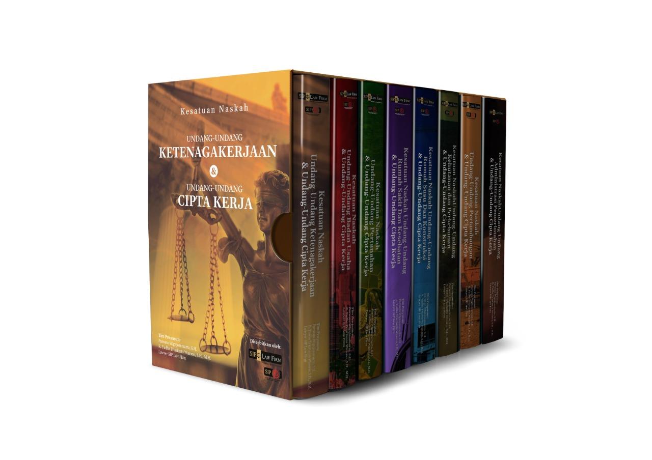 Serial Kesatuan Naskah Undang-Undang Cipta Kerja yang akan diterbitkan oleh SIP Law Firm di masa mendatang. Foto: istimewa.